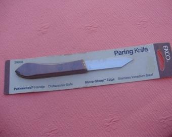 "Vintage EKCO 2 3/4"" Paring Knife , Original Package , Made in USA"
