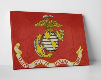 US Marine Corp Flag. Gallery Wrapped Canvas Print
