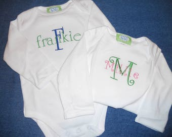 Personalized Boy and Girl onesies