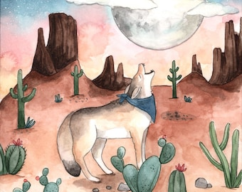 Coyote Moon Card