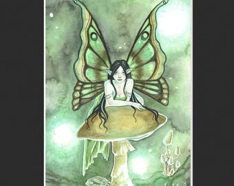 Nightwake Fairy Print (Matted)