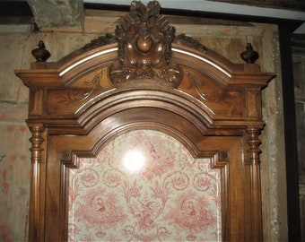 Imposing antique French armoire / linen press