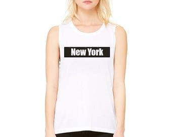 New York - Scoop Muscle Tee