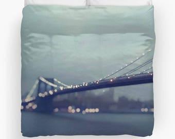 Brooklyn Bridge Photography Duvet Cover