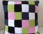 handmade crocheted cushio...