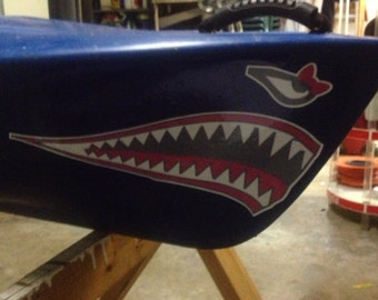 Kayak / Canoe Miss Shark Mouth decal