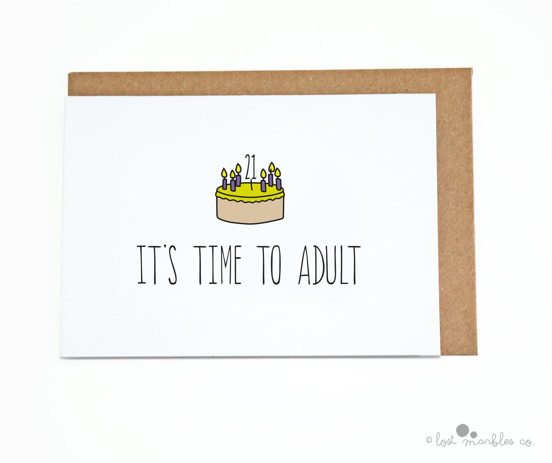 21st birthday card her birthday his birthday funny zoom bookmarktalkfo Choice Image