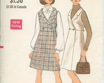 1960s Vogue Retro Mod Mini Dress Sewing Pattern Vintage 7635 Size 12 Uncut