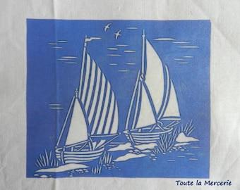 Transfer theme sea, sail boat decor