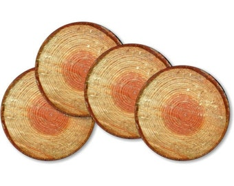 Tree Log Coasters - Set of 4