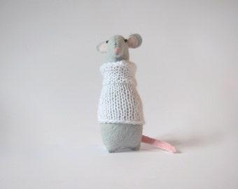 Felt Rat, Small Felt Animals, Felt Mouse, Rat Toy, Rat Stuffed Toy, Rat Plushie, Mouse Softie, Felted Animals, Tiny Mouse,