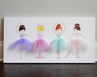 Ballerina Decor, Ballerina Nursery Decor, girl nursery decor, ballerina art, Ballerina Nursery Art, Baby Shower, Ballerina Wall Art