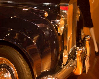 Photo Print - Classic Car and Legs, Chrome