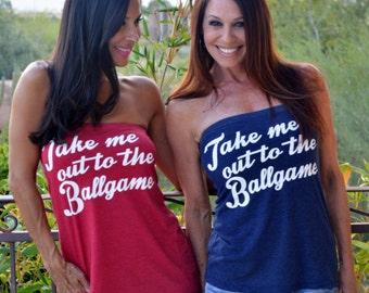 Take Me Out to the Ballgame. Baseball Shirt. Feel Naked T-Shirt Tube Top. Women's Tube Top. Women's Baseball Shirt. Ballgame Shirt. Gameday.