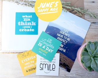 Happy Mail, Happy Post, Subscriptions, Letter Writing, Greetings Cards, Snail Mail, Inspirational Postcards.