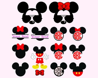 MICKEY and MINNIE/ Svg / Png 300 / Eps/ Mickey Monogram/Mikey and Minnie Monogram / Minnie Head/ Silhouette/ Printable/ Disney Svg/ Circuit