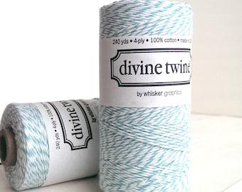 Teal twine - full spool - 240 yards - Divine Twine Aqua twine light turquoise bakers twine