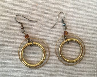 Dangly Golden Hoops