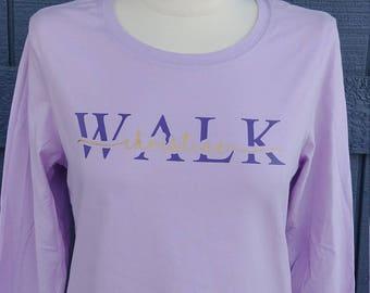 Walk Tee \ Custom Name Cutout