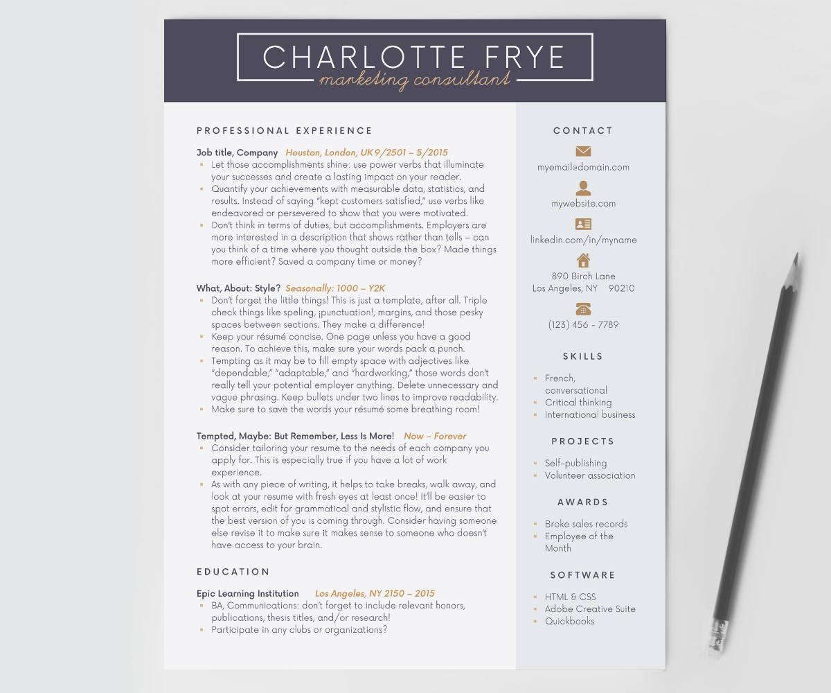Reanudar la plantilla curriculum vitae CV curriculum