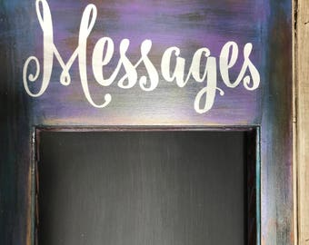 Rustic Chalkboard, Chalkboard Message Center, Wood Chalkboard, Patina chalkboard,  shutter chalk board