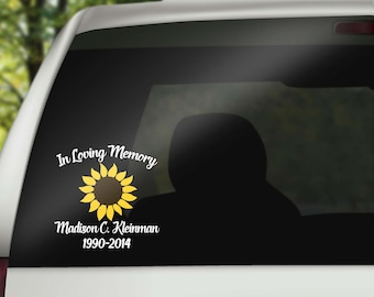 In Loving Memory Car Decals >> Wall Decals & Car Decals by JensVinylDecals on Etsy
