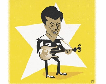 Link Wray limited edition art print