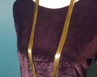 Vintage Six Strand Gold Tone Necklace by Anne Klein