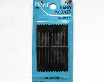 Supplies - Prims Sharps Needles, choose size 6 or 8, 20 count