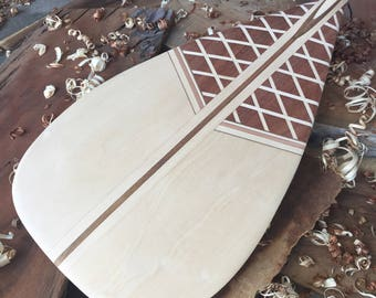 Custom Handcrafted Wooden Outrigger Canoe Paddle