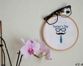 Cross stitch cross stitch pattern Father's Day - color cross stitch pdf cross stitch cross stitch hoop counted cross stitch embroidery hoop