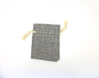 Bag, Burlap, gift wrapping, gray