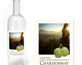 Home Brew Online Premium Quality Water Proof Labels - Chardonnay 30 Pack