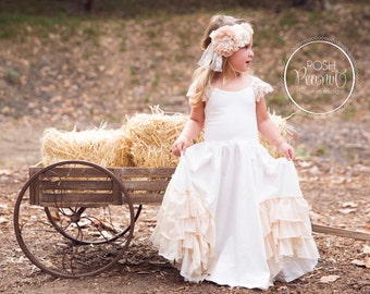flower girl dress, flower girl dresses, vintage flower girl dress, toddler flower girl dress, Junior bridesmaid dress, boho flower girl