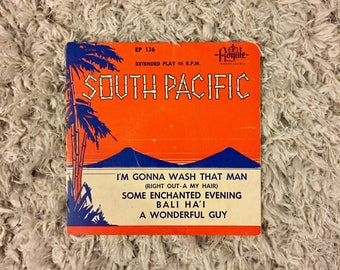 South Pacific 45 inch EP record, 1951