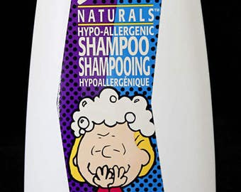 Snoopy Shampoo Naturals Hypo-Allergenic Sally on Front w/Bubble in Hair Peanuts