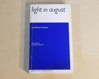 Light In August - William Faulkner  - Vintage Paperback Book