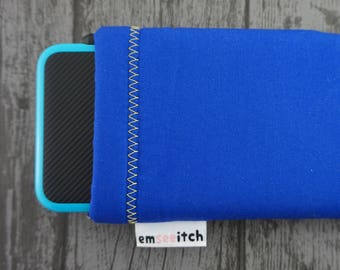Blue / Yellow Sonic the Hedgehog Colours Minimalist Nintendo 3DS, 3DS XL, New 3DS, New 3DS XL, New 2DS XL Fabric Pouch Case