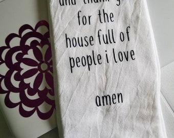 Handmade flour sack towels