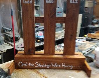 Stocking holder stand