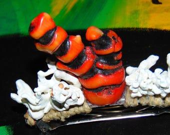 Red & White Coral Mermaid Hair Piece