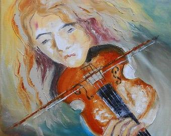 "Painting ""Violonist"""