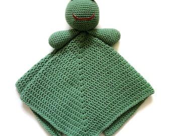 Frog Security Blanket - PDF Crochet Pattern - Instant Download