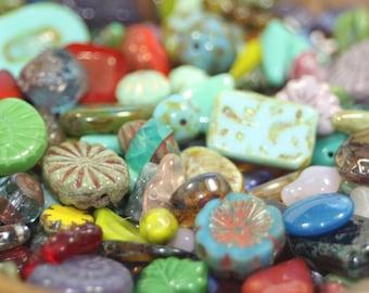 Czech Glass Bead Mix, Misc. Loose Beads