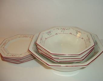 8 pc Johnson Brothers Madison Bowls and Plates