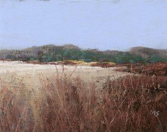 Cape May Wetland - original pastel landscape by Michael Scotko