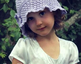 Download Now - CROCHET PATTERN Cross Stitch Cloche - Baby to Adult Hat - Pattern PDF