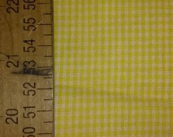 Yellow Gingham Checked Fabric