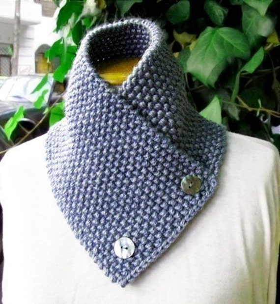 Knitting Pattern For Knit Scarf Cowl Or Neckwarmer N9