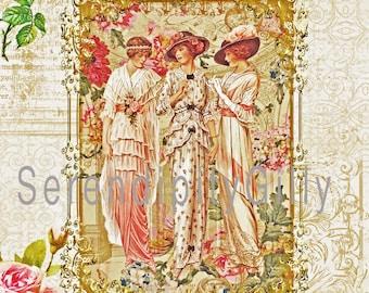 Edwardian Ladies Collage